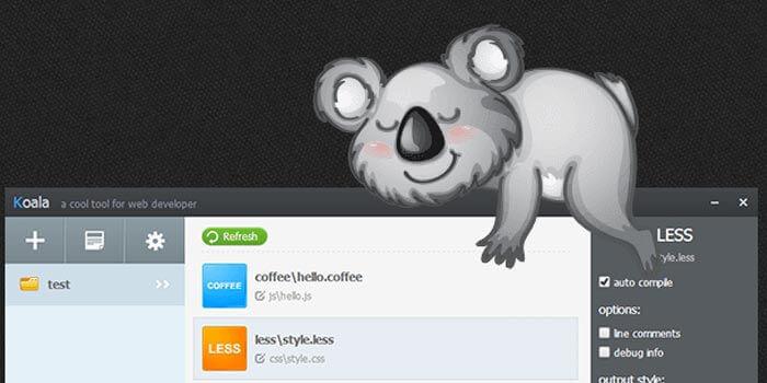 一个编译less、编译sass的软件、神奇的koala带你飞带你装逼